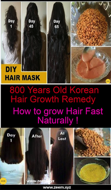 800 Years Old Korean Hair Growth Remedy Diy Recipe To Speed Up Hair Growth Zeem Hair Remedies For Growth Speed Hair Growth Grow Natural Hair Faster