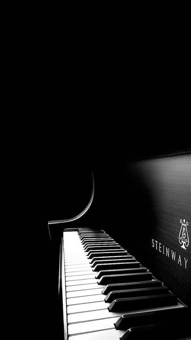 Black Piano #iPhone 5s #Wallpaper