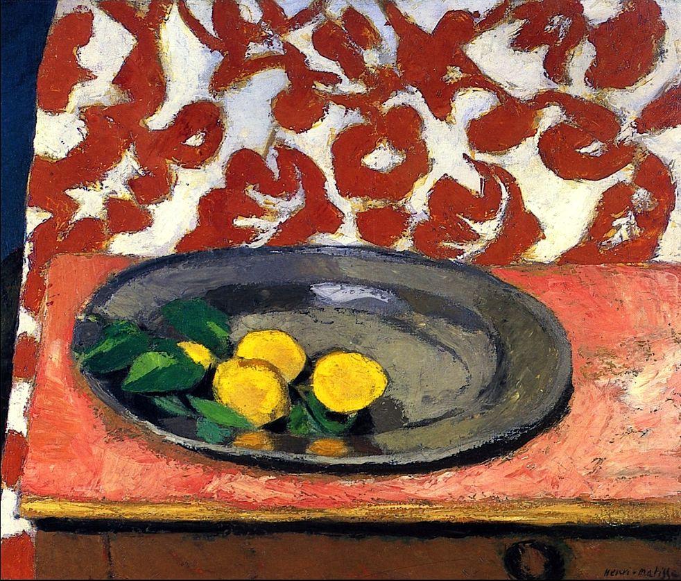 Lemons on a Pewter Plate Henri Matisse - 1926