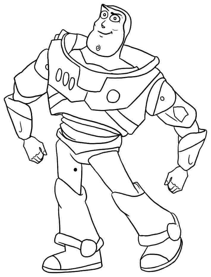Free Printable Anime Movie Toy Story Buzz Lightyear Coloring Toy