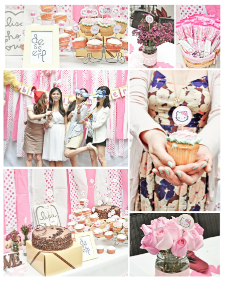 A Very Pink Hello Kitty Bridal Shower Bachelorette Party Ideas