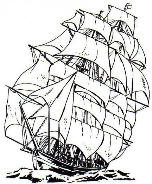 Free Ship Coloring Pages For Kids And Adults Desenler Pinterest