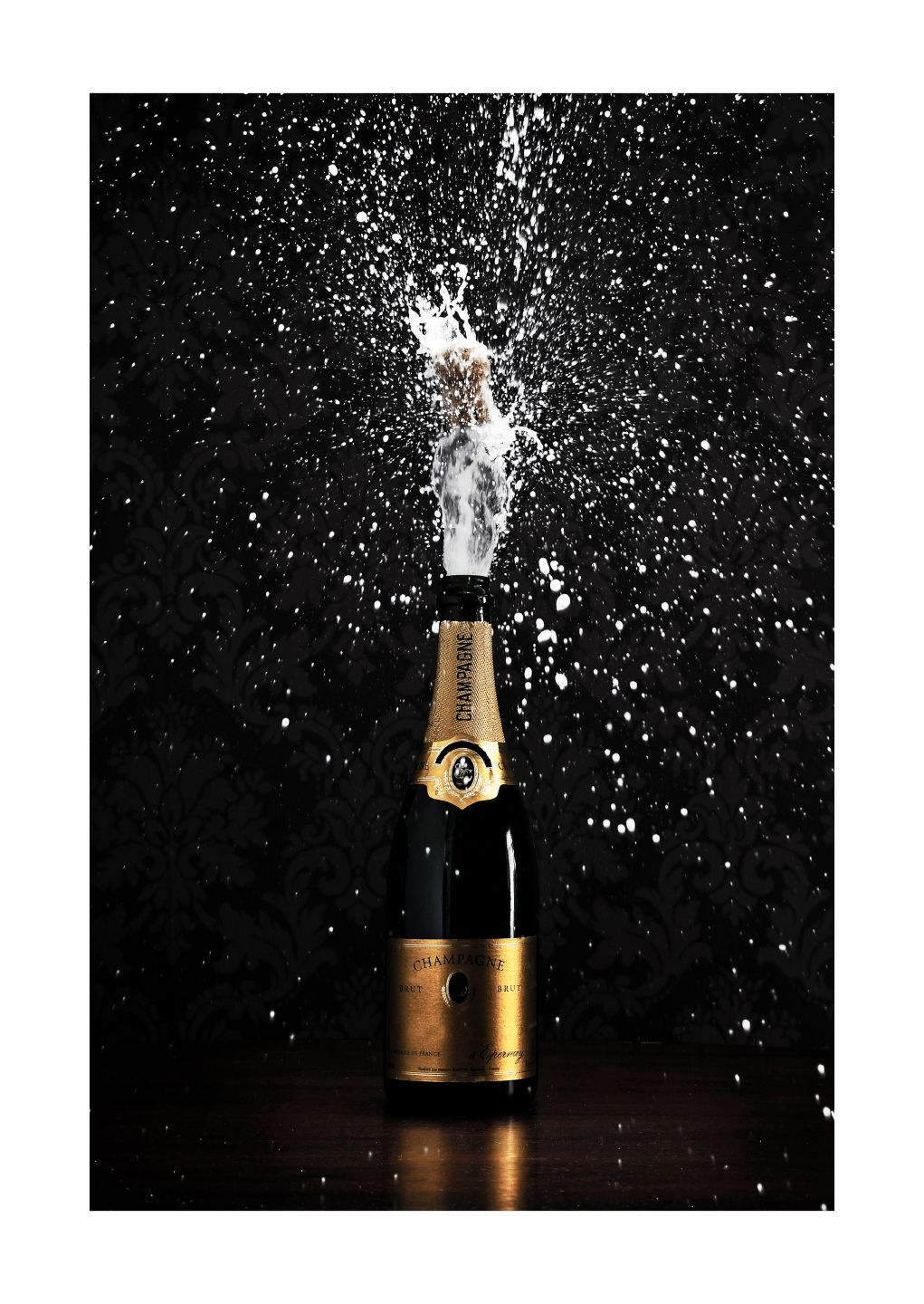 Popping Champagne Poster Champagne Pop Champagne Poster