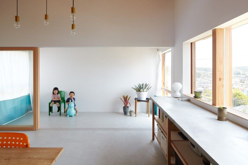 4n House in Ikoma, Nara, Japan. Designed by  ninkipen! architects. | Photo: Hiroki Kawata.