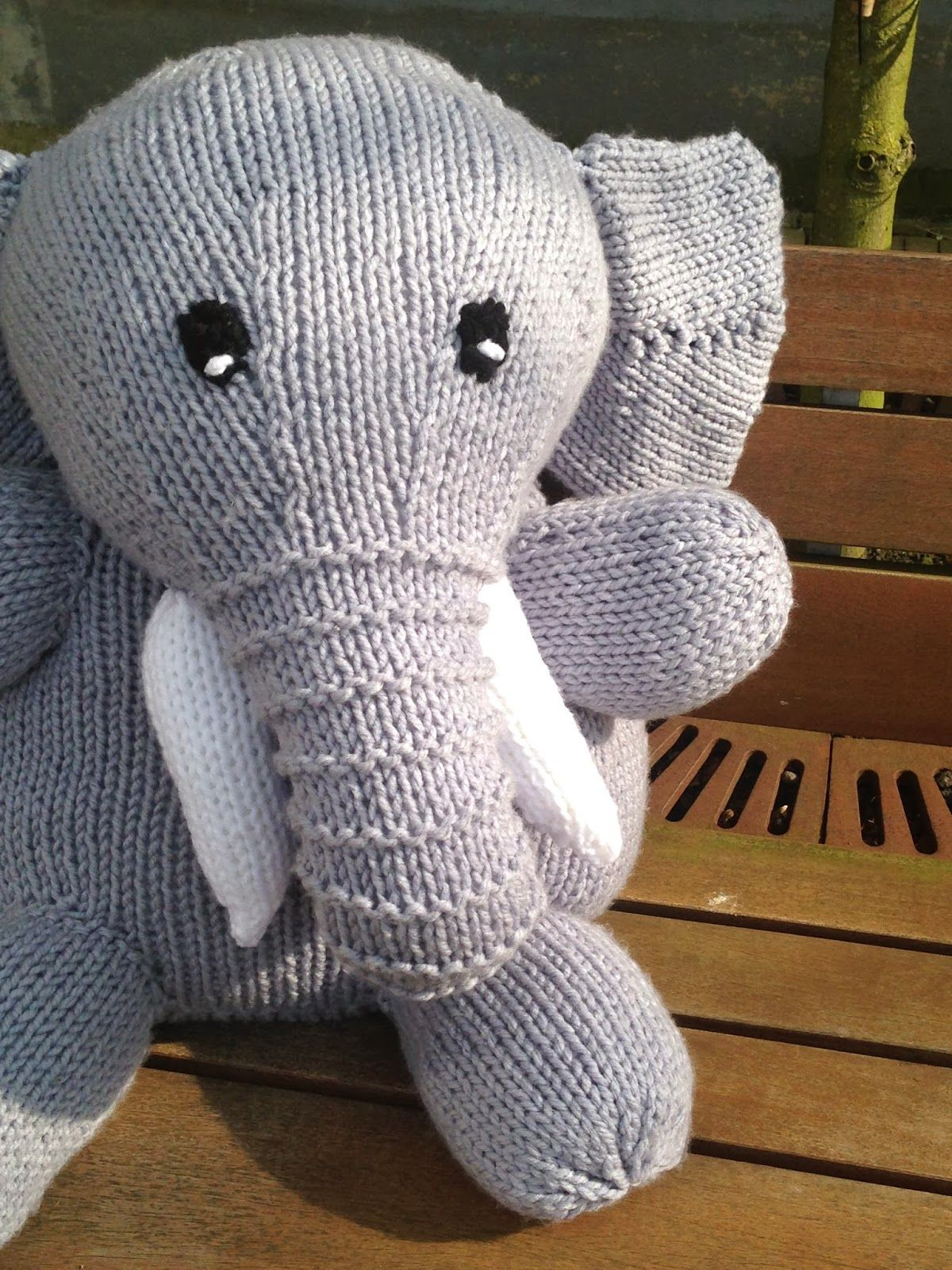 Olifant om patroon te breien Gemakkelijk olifant