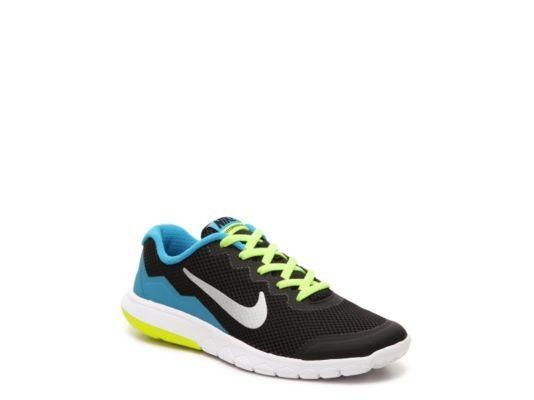 362bab0a499d7 Men s Nike Flex Experience 4 Boys Youth Running Shoe - Black Blue Neon  Yellow