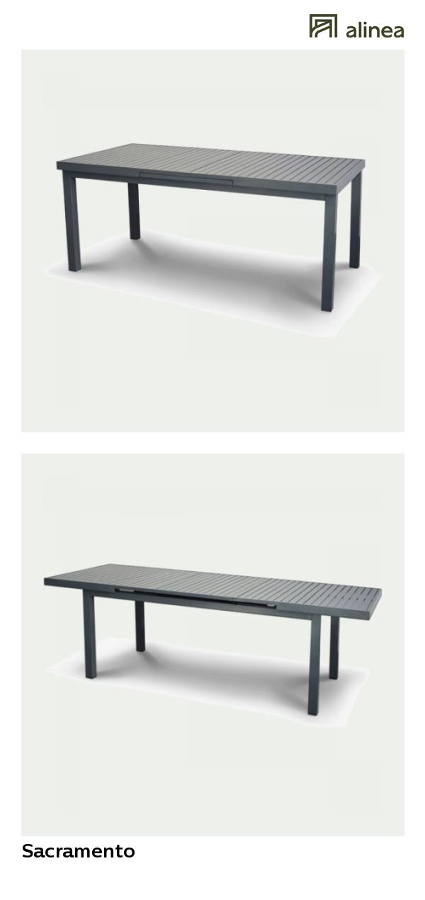 alinea : sacramento table de jardin extensible grise en ...