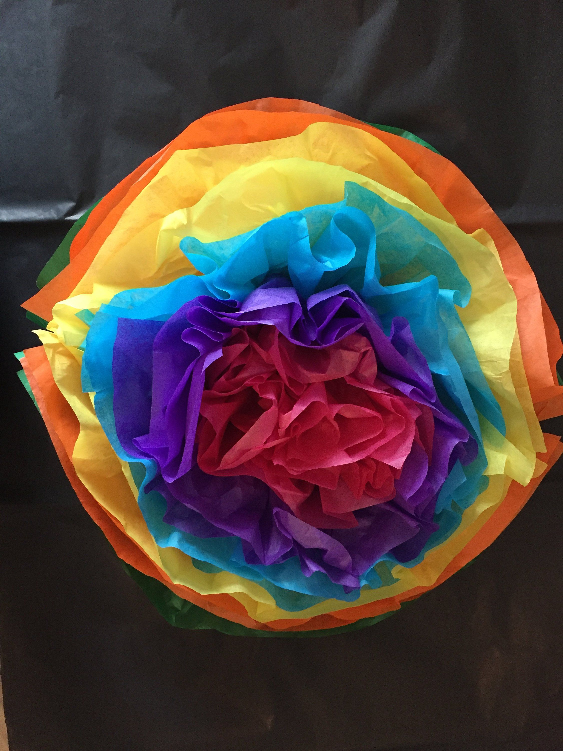 Individual Large Mexican Tissue Paper Flowers Pom Poms Tissue