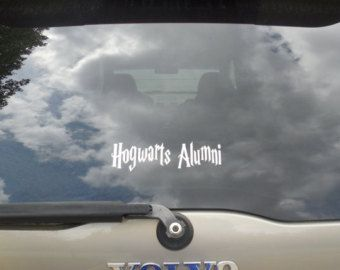 Harry Potter - HOGWARTS ALUMNI Vinyl Decal Stickers. Pick your color. - Edit Listing - Etsy