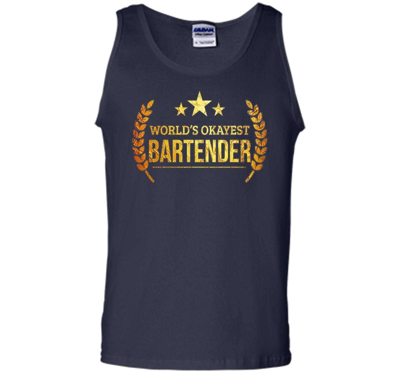 Worlds Okayest Bartender T-shirt Bartending Mixologist