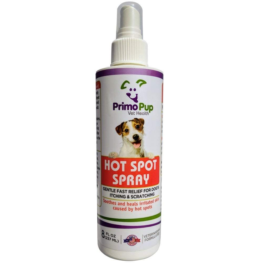 Primo Pup Vet Health Hot Spot Spray for Dogs with Tea