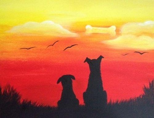 Dog Daze Http Www Paintnite Com Paintnite Pets Dogs Art Canvas Silhouette Painting Art Art Painting