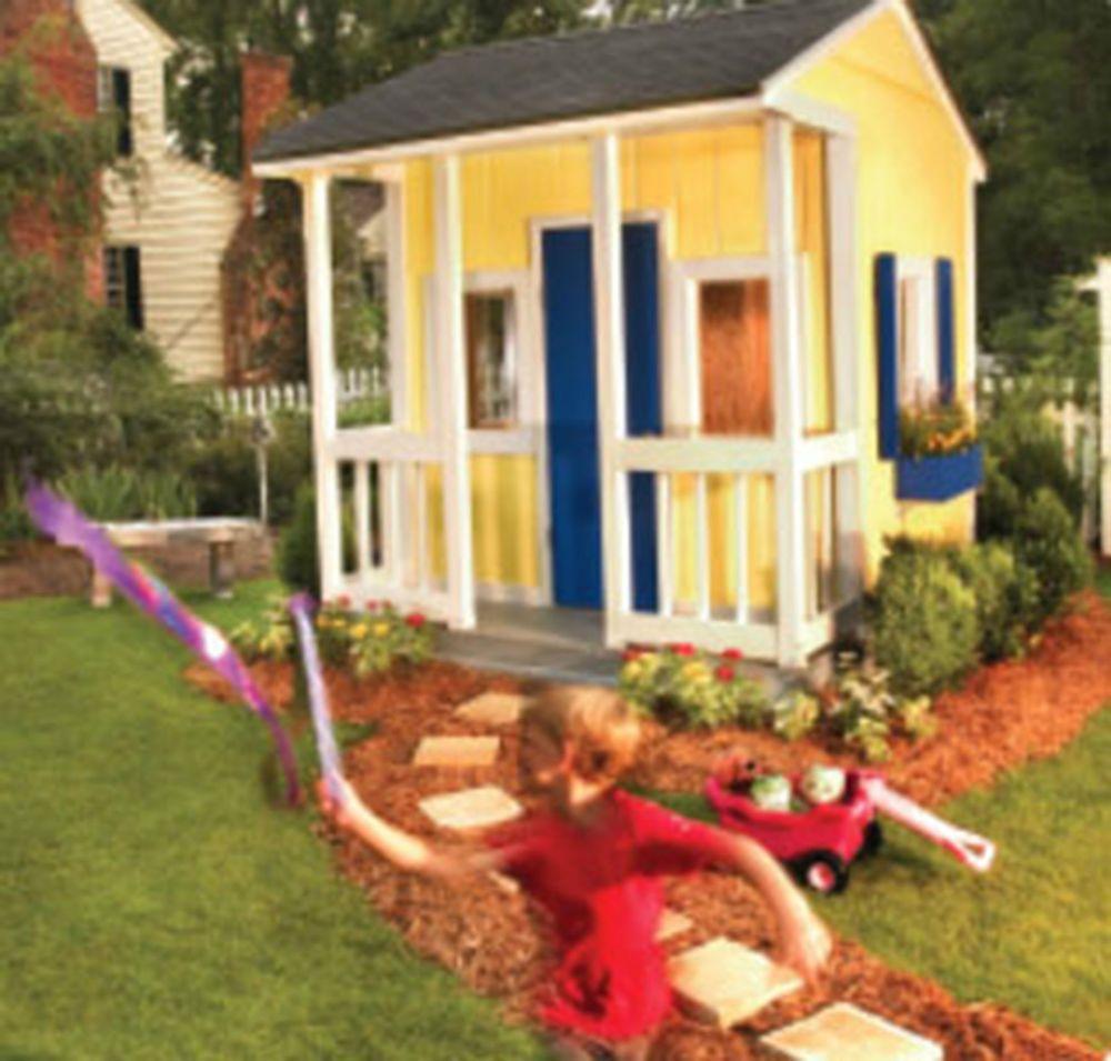 simple build wooden playhouse plan 8x8 tiny houses u0026 play