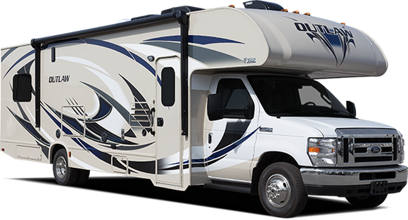 Outlaw class c motorhome toy haulers class c rv rv for Toy hauler motor homes