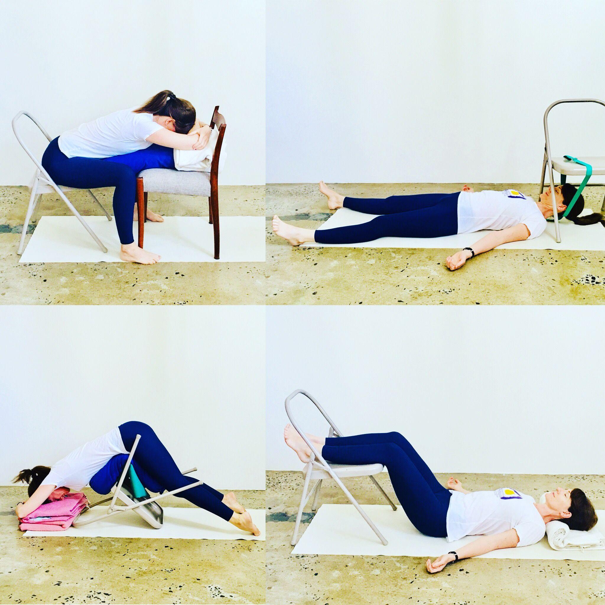 Pin By Soraya Amod On Yoga Times Restorative Yoga Chair Yoga Chair Pose Yoga