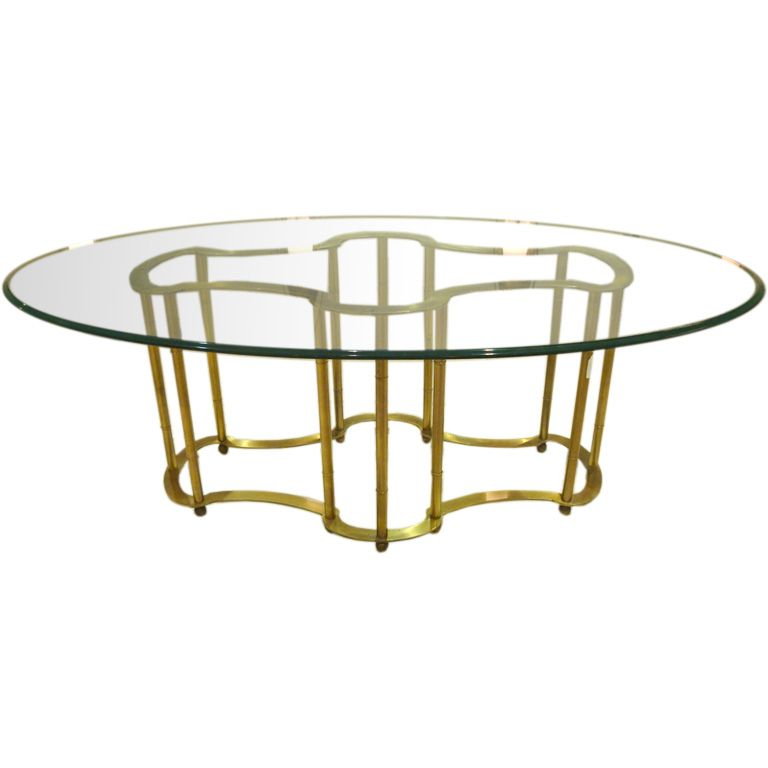 Oval Glass Dining Table an oval top glass and brass dining tablemastercraft