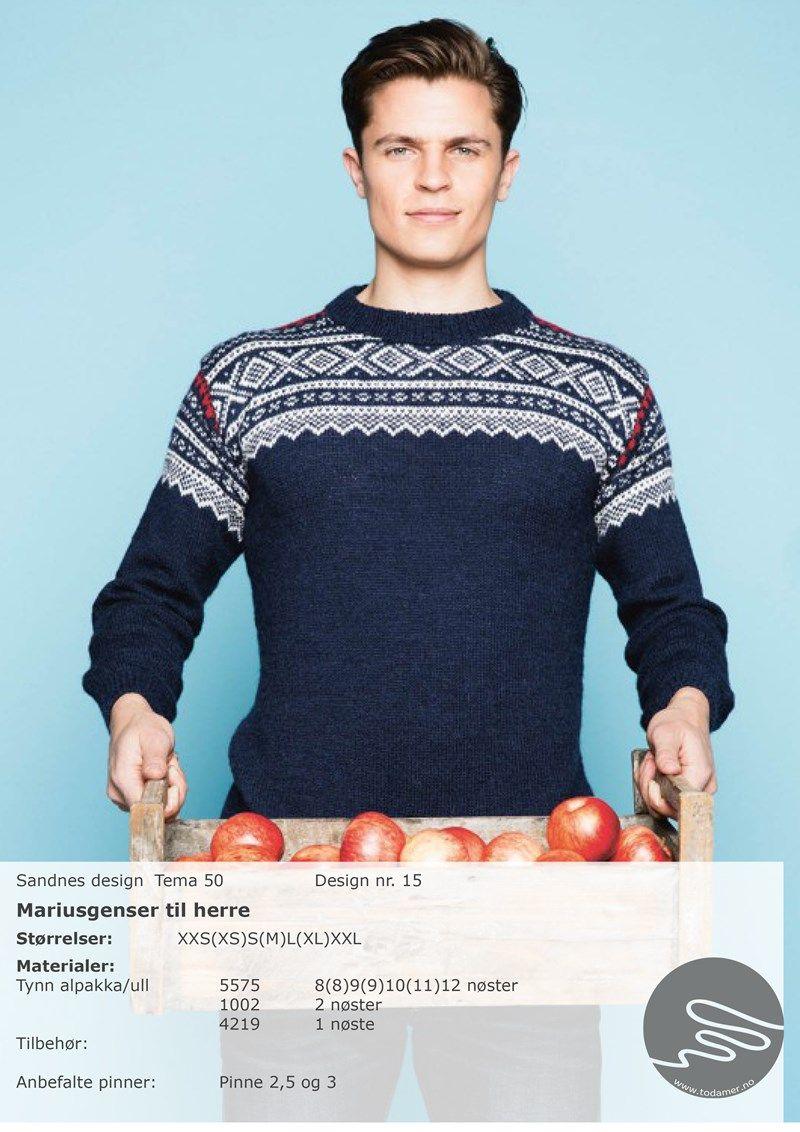 Marius genser (SM) Denim   Genser, Mote, Strikking