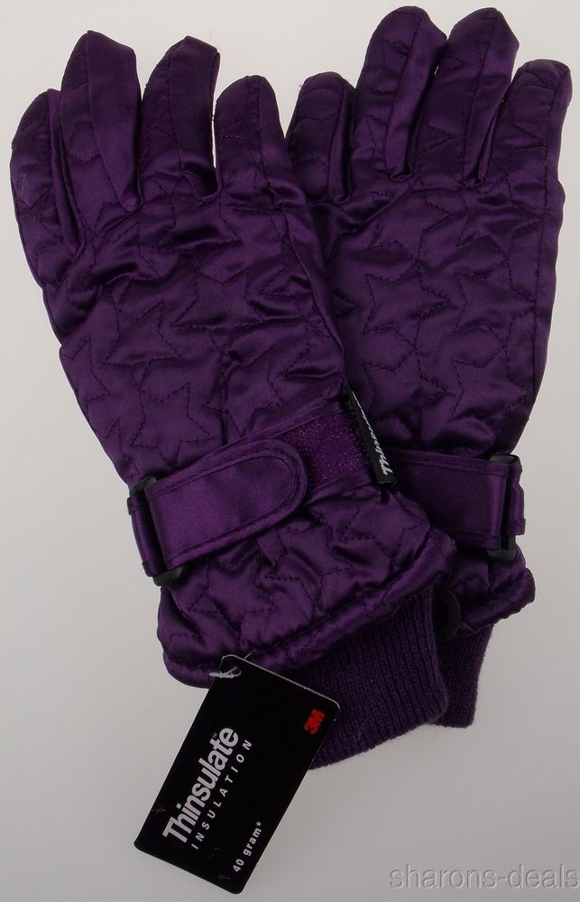 Waterproof Women 3M Thinsulate Winter Hiking Ski Snow Snowboarding Gloves Warm