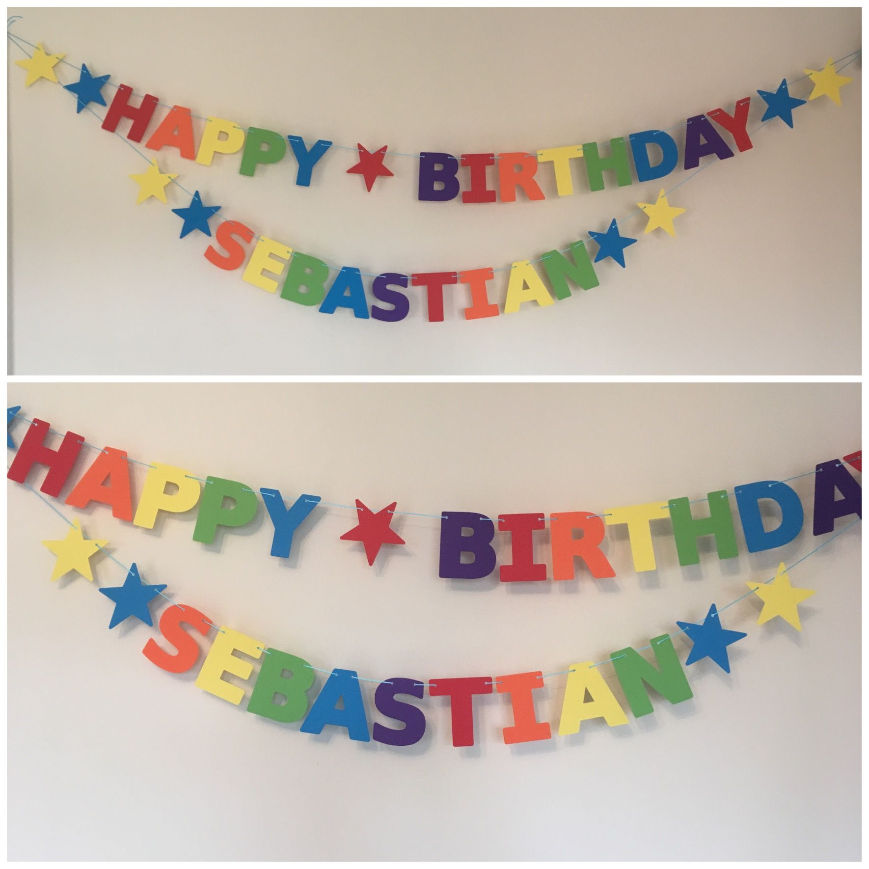 Pin On Personalised Birthday Banners Bunting
