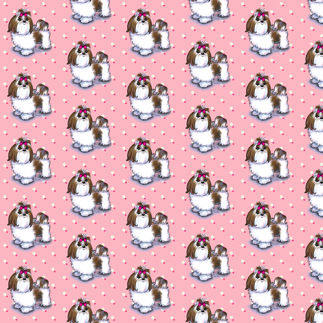Colorful fabrics digitally printed by Spoonflower Shih