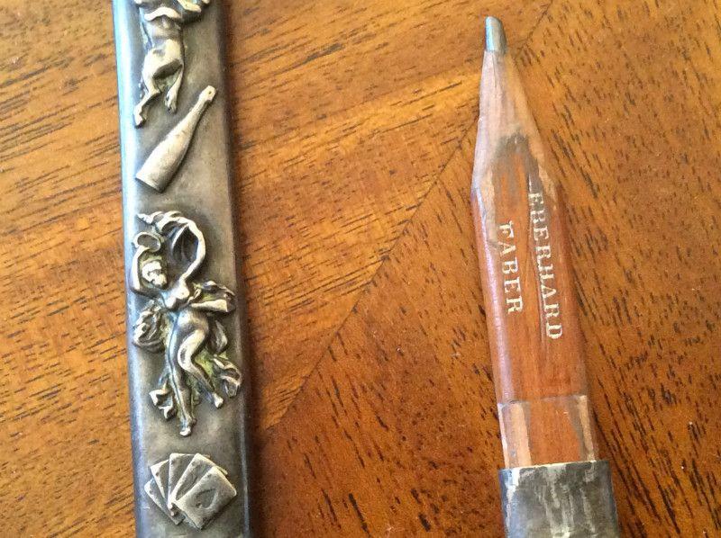 Antique Eberhard Faber Unique Nouveau Sterling Pencil Holder Pendant On Ebid United States Antique Jewelry Antiques Auction