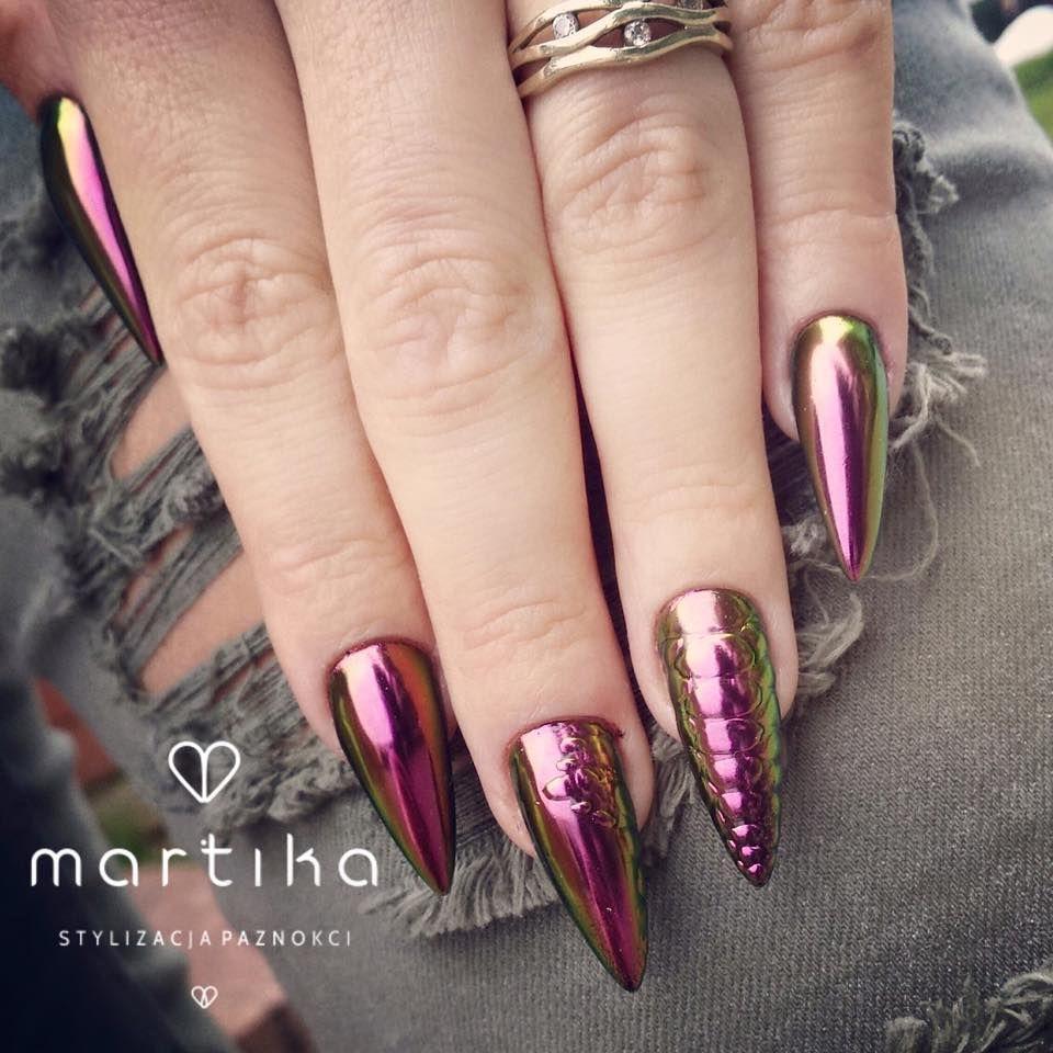 Metal Manix By Marta Rybicka Indigo Young Team Lublin Nails