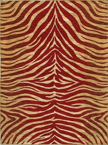 Red Animal Print Rugs Mirabella Contemporary Rug Free Shipping Shaw No