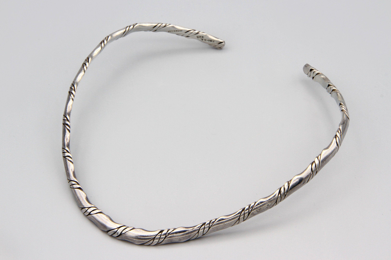 Solid 925 sterling silver neck cuff silver neck collar handmade silver choker