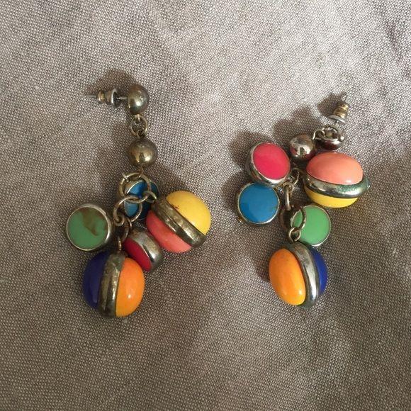 Lowest Vintage Colorful Earrings Colorful, vintage earrings. Lots of fun! Jewelry Earrings