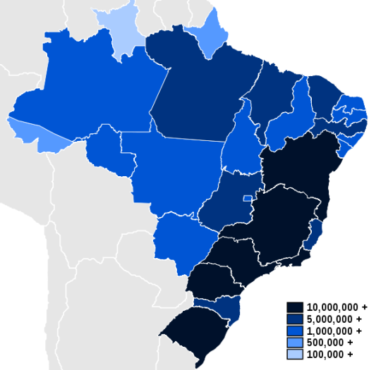 Brazilian Population Map