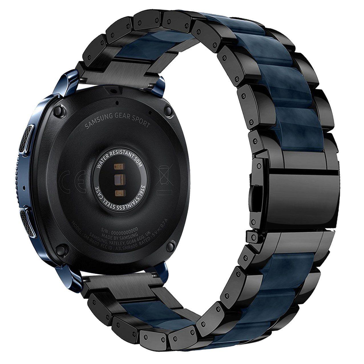 Gear Sport Bands VMORO 20MM Luxury Black Stainless Steel