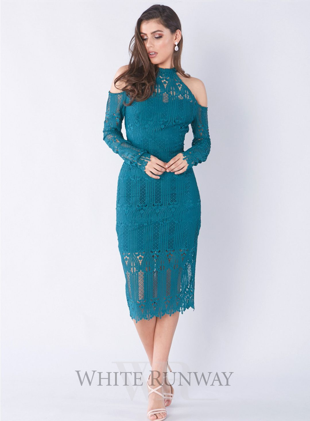 Vivian Dress. A gorgeous midi dress by Elle Zeitoune. A long sleeve ...