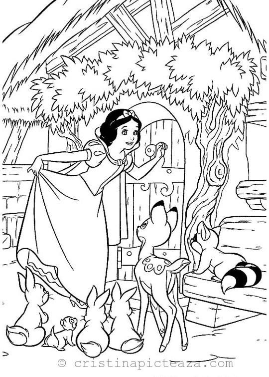 Snow White Coloring Pages For Download Cristina Picteaza Snow White Coloring Pages Disney Coloring Pages Princess Coloring Pages