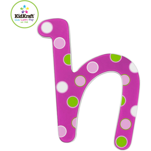 """I'm learning all about KidKraft - 6"""" Wooden Letter, Sweet Pattern, H at @Influenster!"""