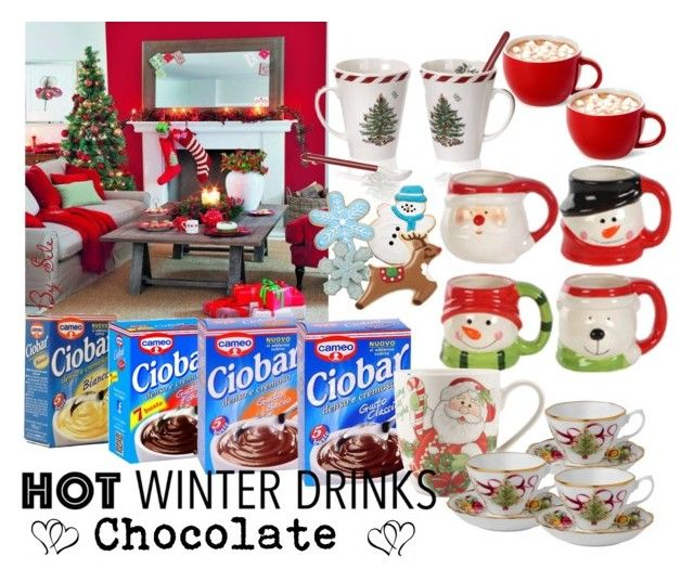 """""""Hot Winter Drinks- Contest"""" by selene-cinzia ❤ liked on Polyvore featuring interior, interiors, interior design, home, home decor, interior decorating, Spode, Fitz and Floyd, Royal Albert and hotwinterdrinks"""
