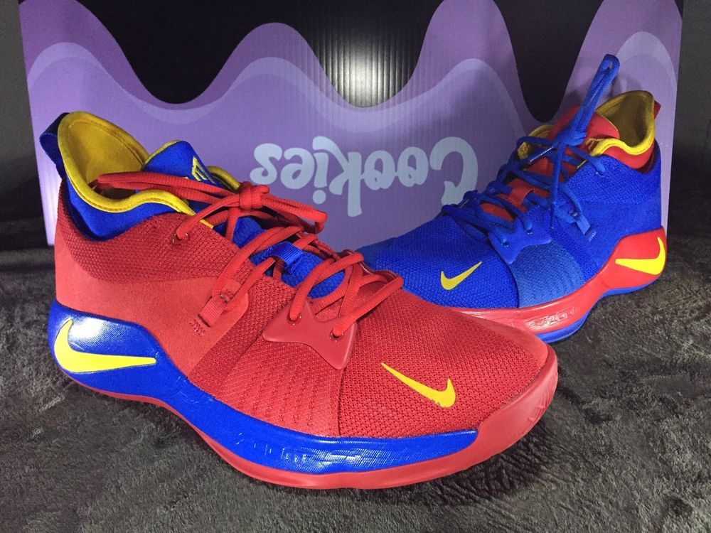 new concept 7512a 6b3eb Nike iD Zoom Paul George 2 PG 2 AT4648-991 Blue/Red Yellow ...
