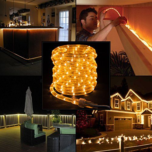 American lighting 27ft white led rope lights christmas holidays indoor outdoor click image