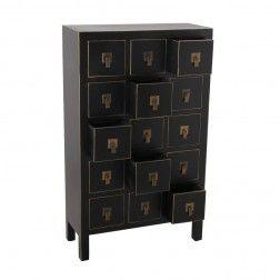 Aparador oriente 15 cajones negro oro muebles chinos y orientales en tu tienda - Muebles orientales madrid ...