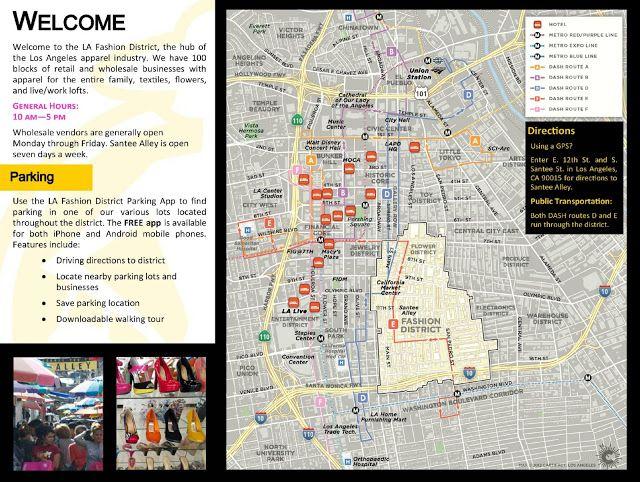 la fashion district la fashion district map guides available to