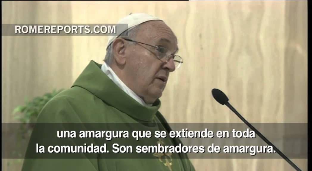Francisco en Santa Marta: Los celos, la envidia y los cotilleos dividen ...