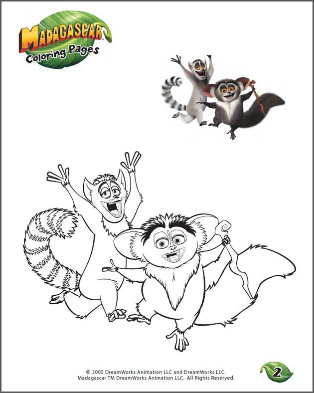 Color King Julien And Maurice Fun Coloring Page For Kids Cool Coloring Pages Coloring Pages Disney Colors