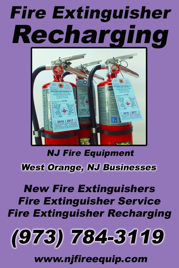 Fire Extinguisher Recharging West Orange, NJ (973) 784