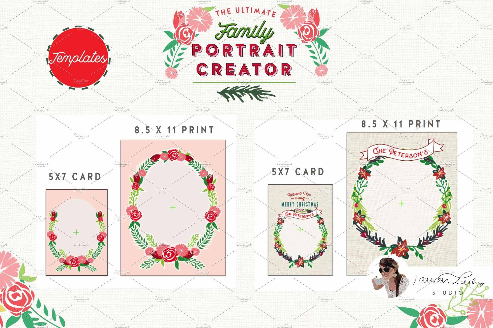 Christmas Family Portrait Creator Family Creator Christmas Affiliate Christmas Card Template Holiday Graphics Family Christmas