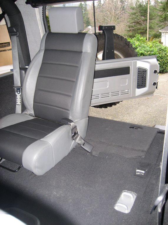 2 Door Custom Rear Seat Bucket Replacing Bench