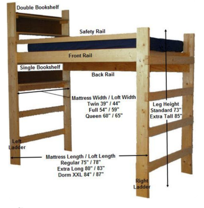I Want To Build A Loft Bed Like This But Need It Easy To Take Apart For Transport How Would You Do It Https Ift T Loft Bed Plans Build A Loft Bed