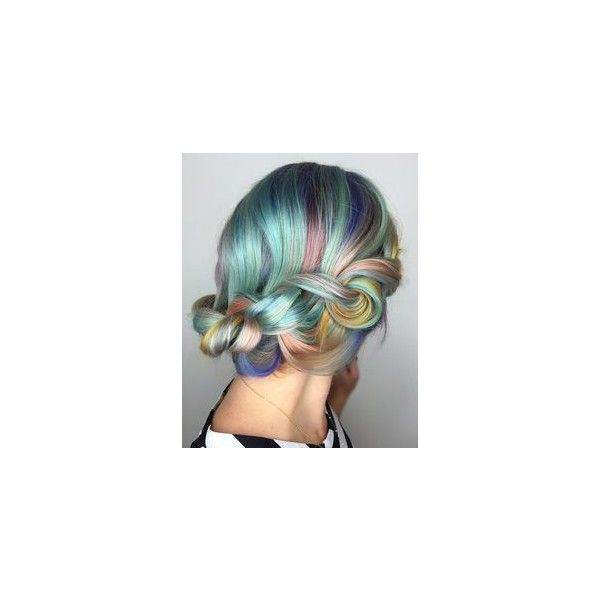 Velocity Ombré Purple/Blue/Yellow/Green Rainbow Full Wig(Pre-Order) via Polyvore featuring hair