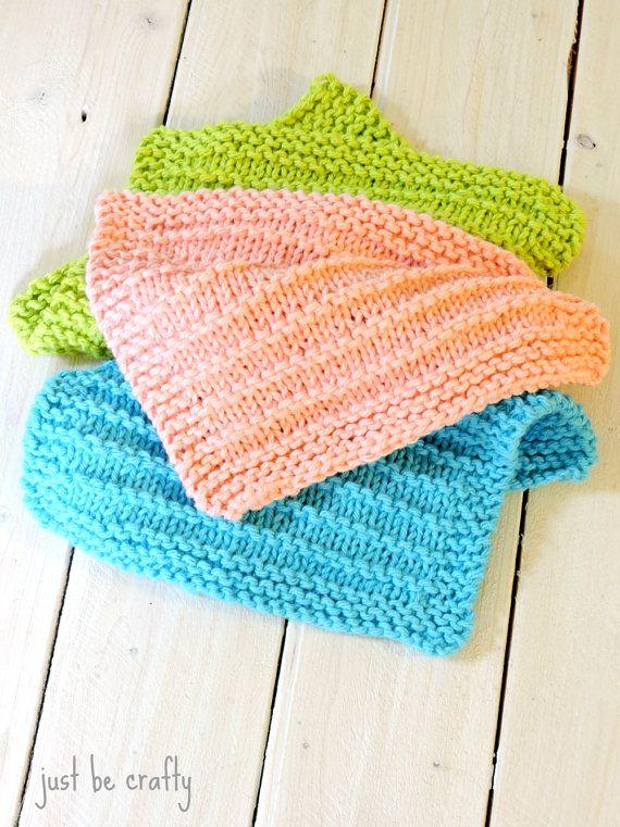 Knitted Dishcloth Pattern - PDF Download; Farmhouse Kitchen ...