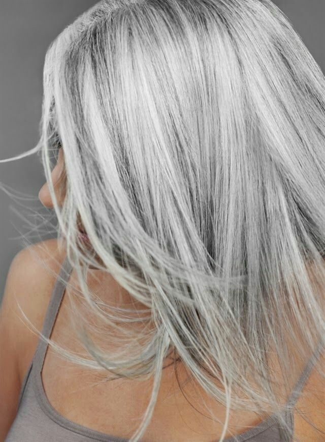 Image Result For Golden Blonde Highlights On Gray Hair Highlights