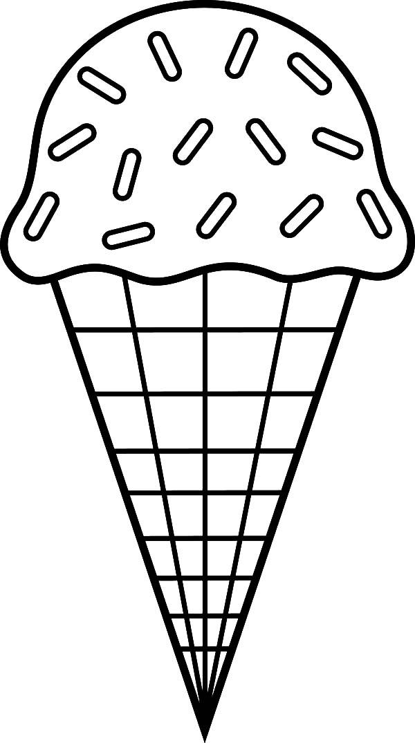 Ice Cream Cone Chocolate Sprinkles Coloring Pages Bulk Color Ice Cream Coloring Pages Ice Cream Crafts Ice Cream Pictures