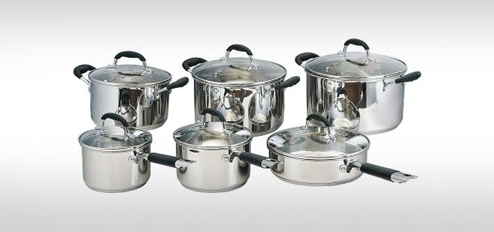 149 For 12 Piece Geneva Stainless Steel Cookware Set Cookware